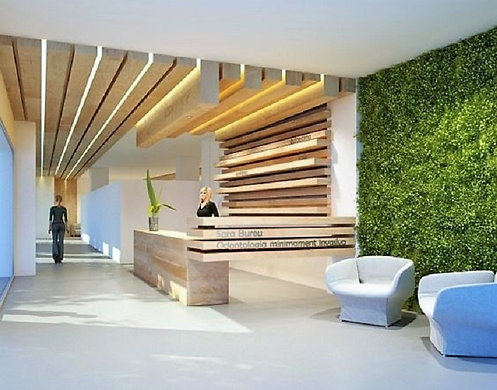 Replica 15 Ft Green Wall Shown In Medical Office Preserved Interiors