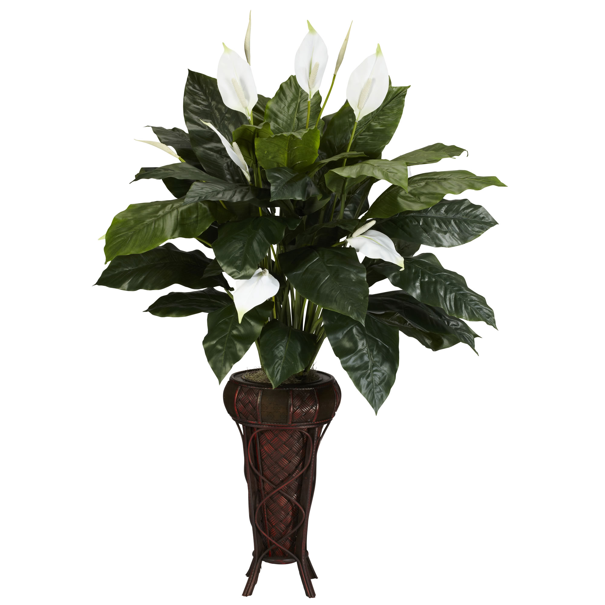 Outdoor Stand Fan Palm : Replica inch spathyfillium plant with stand preserved